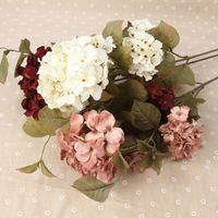 Real touch artificial flowers wholesale silk hydrangea