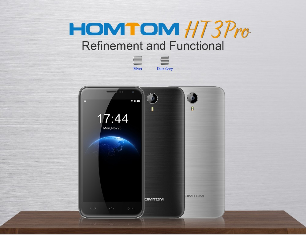DHL quick shipping modern silver homtom ht3 general mobile 4g for international sale