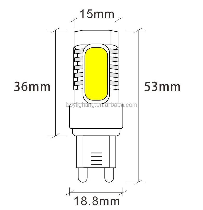 quality cob ce rohs 220v 7w led gy6 35 bulb lamp,g9 led light bulbs