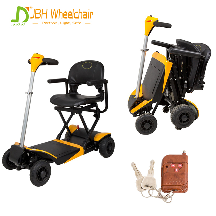 Quality ensure <strong>CE</strong> FDA approved Lightweight folding 4 wheels electric scooter with PG controller easy for elder or disable people