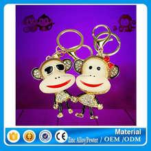 Monkey lover keychains ,gift items for birthday keyring ,new year gifts keychains