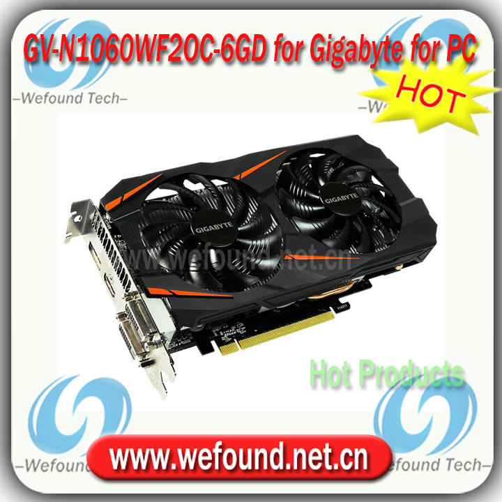 GTX 1060 WINDFORCE OC 6G for Gigabyte GV-N1060WF2OC-6GD GPU Video Cards Graphics Card PCI-E X16 3.0 for Desktop 8K