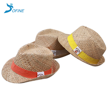 Promotional natural straw panama hat, hand woven panama straw hat