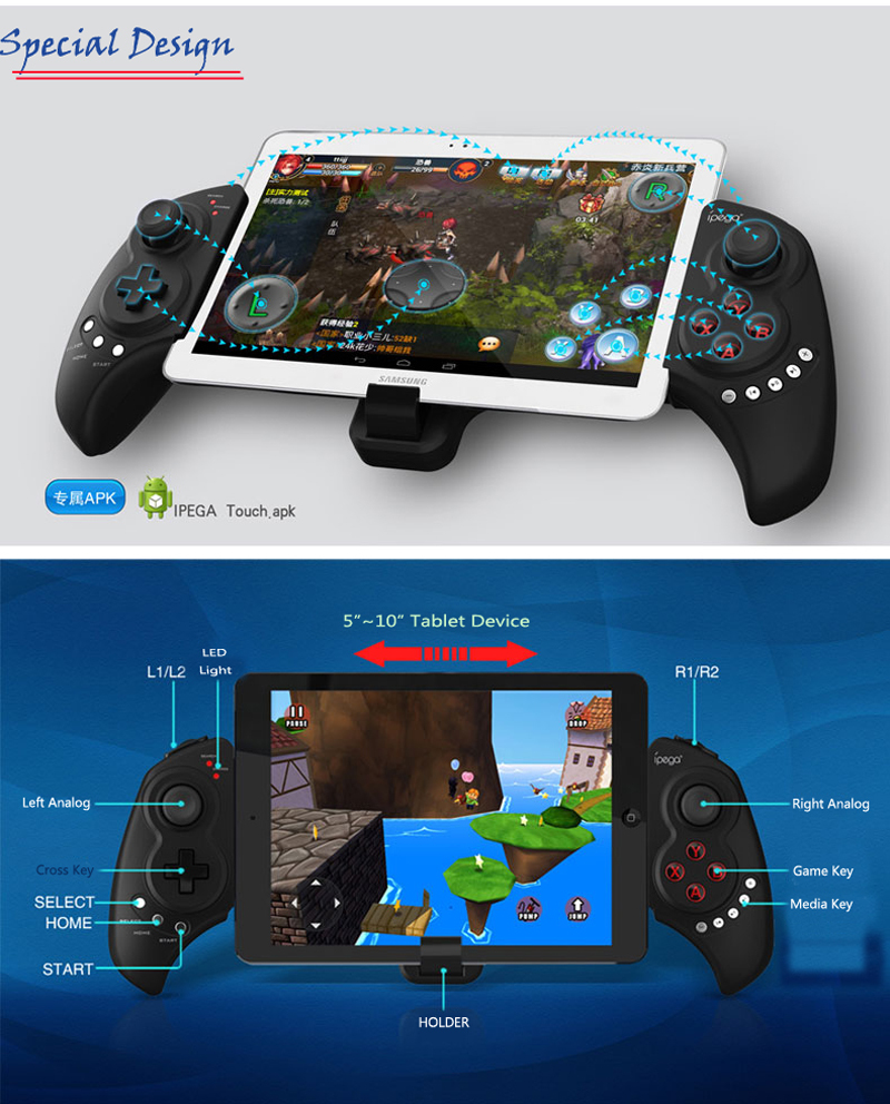 IPEGA PG-9023 IOS & Android Games Multi media Wireless With Bluetooth Joystick