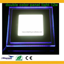 Double Color Round LED Panel Light,small Led Light Panel, round glass led panel light 15w