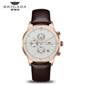 High quality quartz oem watch, quartz leather strap mens chronograph watch