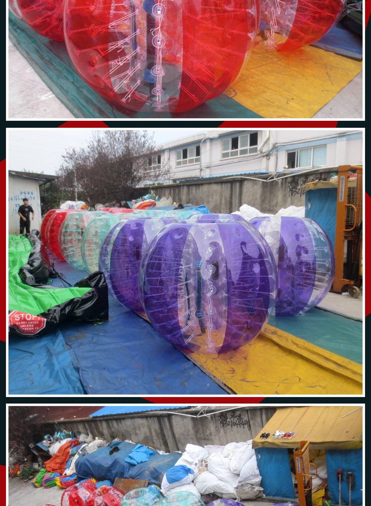 TPU or PVC human inflatable bumper bubble ball, hamster ball