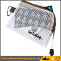 customized mesh PVC waterproof zipper document bag/Eco friendly material documents pouch/plastic file pockets for kids