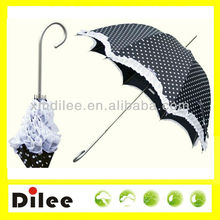 Solid Gothic beautiful handle long promotion stick umbrella