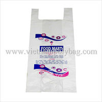 HDPE customize white plastic singlet bag/ vest carrier bags/ T-shirt bags for supermarket or grocery