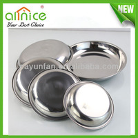 Five Size stainless steel soup plate / catering serving dishes / round food tray