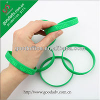 Cheap custom logo debossed/silicone rubber wristband