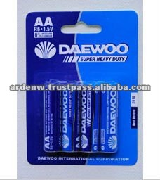 Daewoo Super Heavy Duty 4 Piece AA Dry Battery