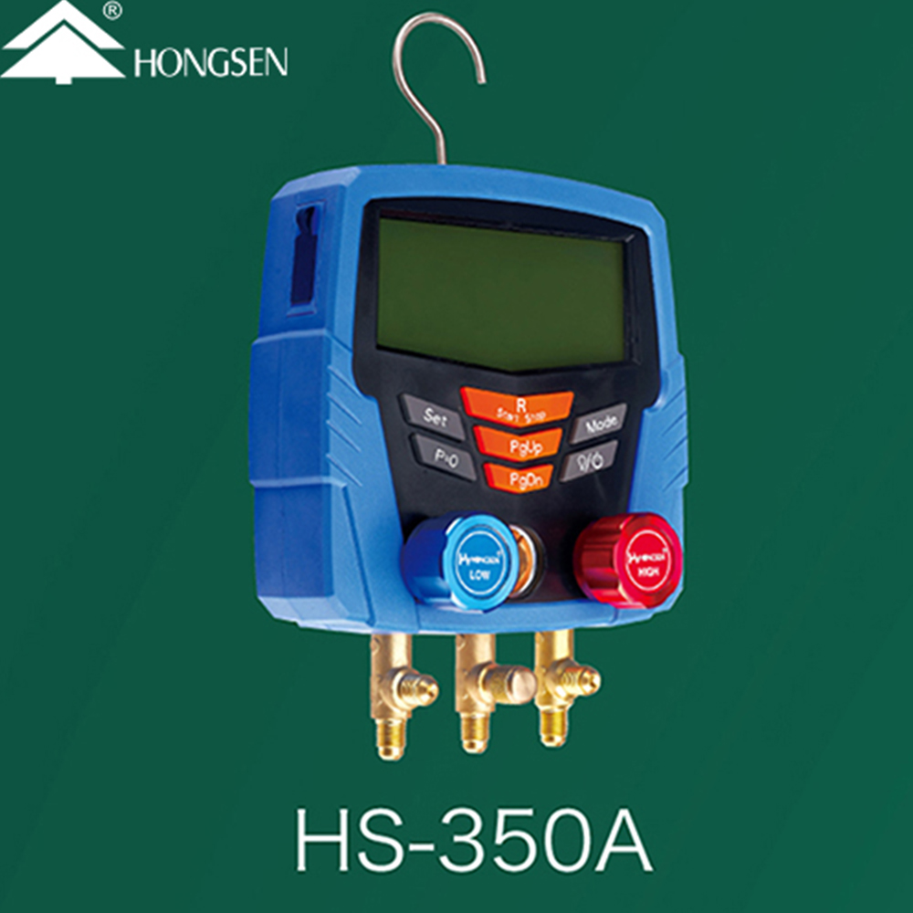 HS-350 Digital Refrigerants Meter Gauge Gas Manometer