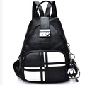 Manufacture Women Backpacks High Quality Black PU leather Material Shoulder Bags Multifunction Backpack Bag
