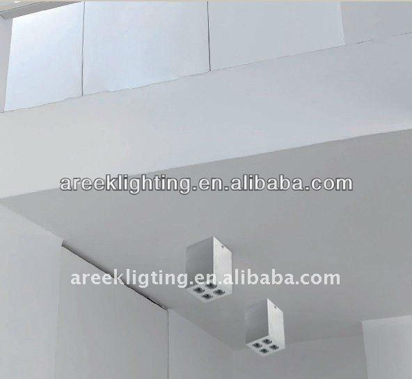 9X1W LED Square surface downlight everlight chips