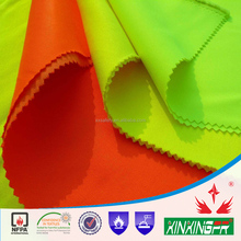 100% cotton high visibility twill fireproof fabric with EN 20471 for welders