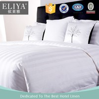 ELIYA Star-rating hotel bed linen, plain hotel bedding set made of 200TC white percale fabric