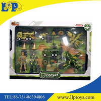 Mini military army action figure toy two soldier with plane and car