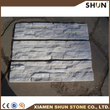china cheap pure white culture stone wall ,stacked cultured prefab stone wall