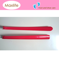 42cm ABS plastic pink boot Shoe horn for shoe,travel shoe horn