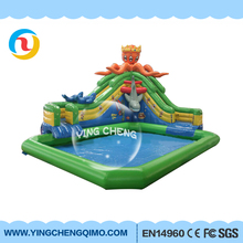 cheap children inflatable water slide for kids high quality inflatable water park with pool