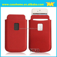 Pu leather pull tab cases for iphone 6, leather pouch sleeve for iphone 6