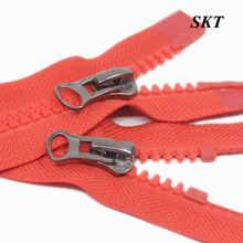 3# 8# Wholesale commonly used red tape two side slider resin zipper