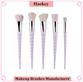 2017 Professional Hotsale 5PCS Fashional Diamond type unicorn shape with private label makeup brush set