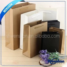 flat handle kraft paper bag with handle