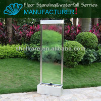 Movable Stainless Steel With Clear Glass