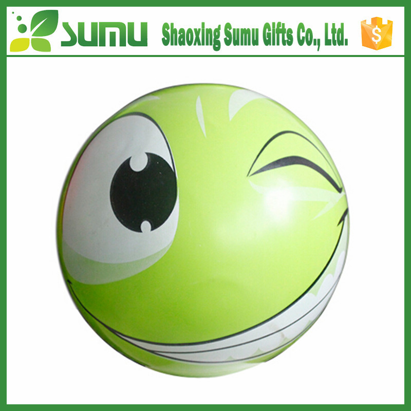 inflatable smiley beach ball for kid