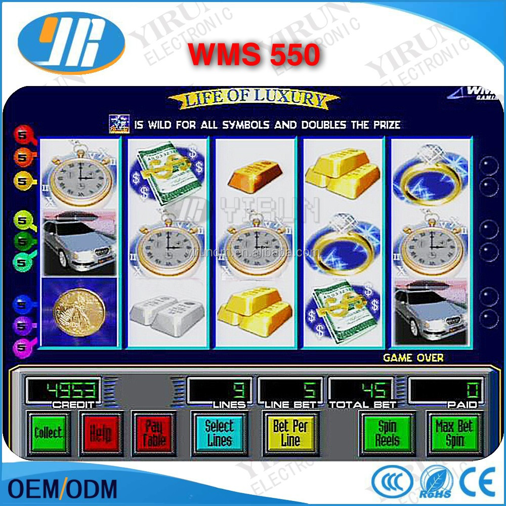 WMS 550 Life Of Luxury 15 lines single game board arcade slot fishing game