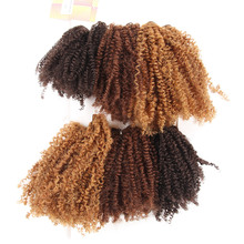 noble gold synthetic ombre jerry curl wa short style one package make full head hair weave extension