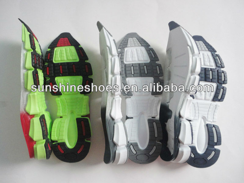 many kinds of fashionable outsole for sports shoes making.