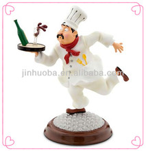 Custom polyresin funny 3D chef figurine for decoration