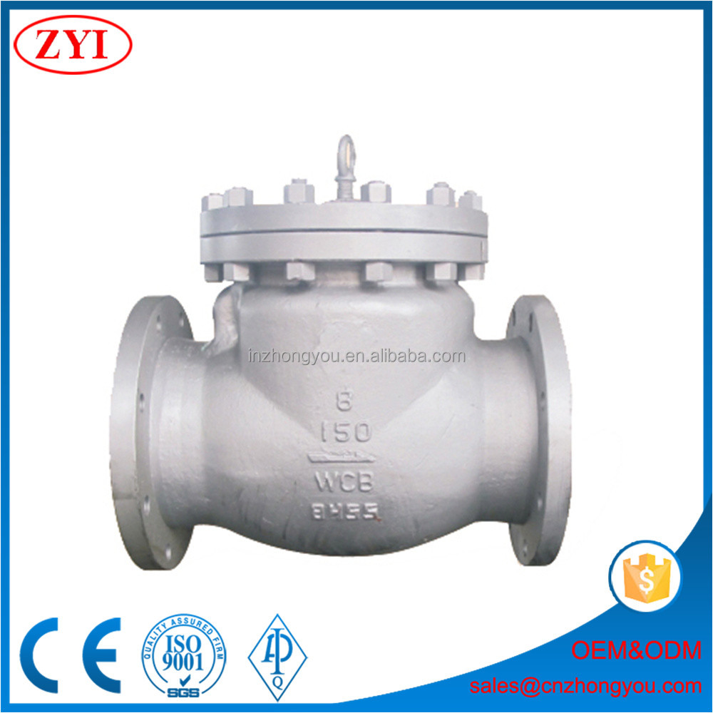 Professional make flanged ends full open swing check valve