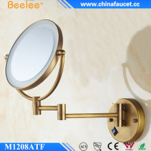 Beelee Antique Round Adjustable Mirror Led Magic Wall Mounted Lighted Makeup Mirror