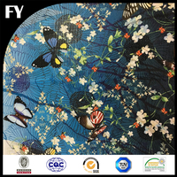 Factory direct customized woven technology digital printing silk fabric for scarves