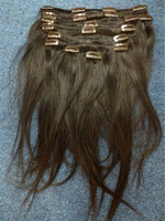 Top quality human virgin hair unprocessed wholesale clip in indian hair extension