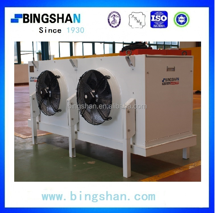 Water and Electric heating defrost stainless steel tube epoxy coated Fin two fans Air Cooler