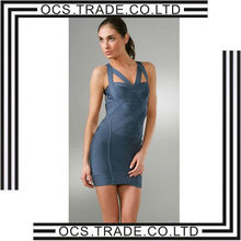 2014 newest modern bandage dress navy blue