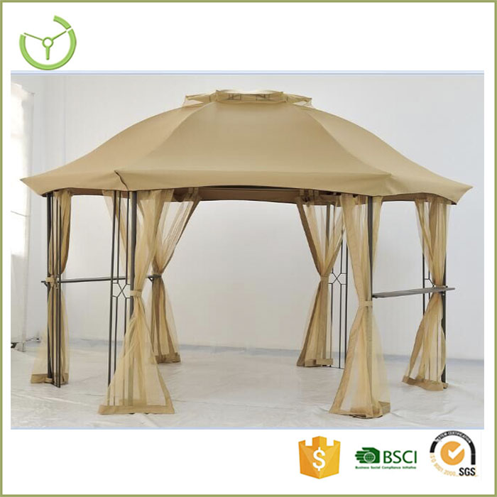 2016 hot selling outdoor garden gazebo tent pavillion gazebo with mosquito net