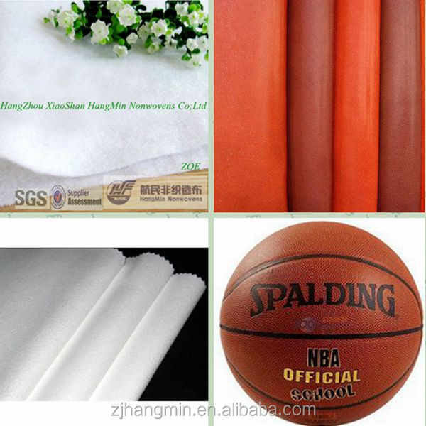 Factory price PU/PVC synthetic leather nonwoven spunlace fabric for basketball base cloth