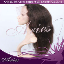 Long Layered Wavy Dark Brown Lace Wig 100% Human Hair about 20 Inches Makes You More Attractive