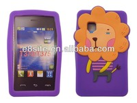 3D Lion Design Animal Silicon Case For LG T375 T395