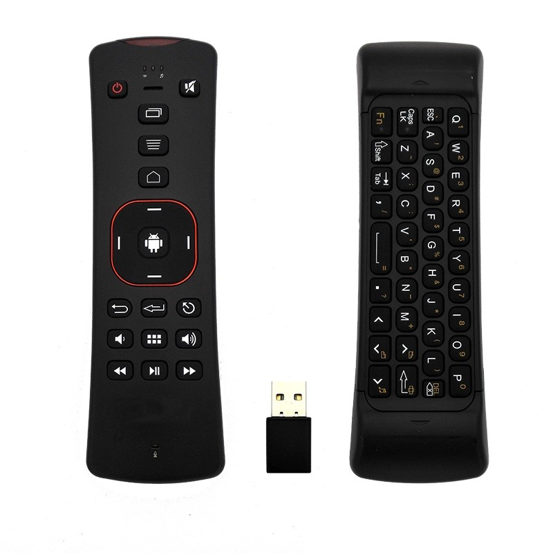 Promotion! 2.4G Wireless mini Keyboard fly air Mouse T2 fly mouse Remote Control 3D function For HDTV Android TV Box