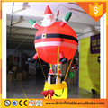 Indoors Lighting Inflatable Santa Claus with hot air balloon