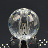 Faceted Crystal Ball Glass Ball With