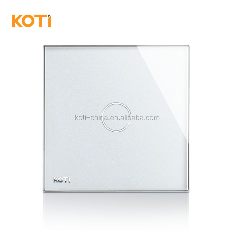 Koti High Quality 110-250v 50-60hz Tempered Glass Wireless Touch Sensitive Electrical Switch